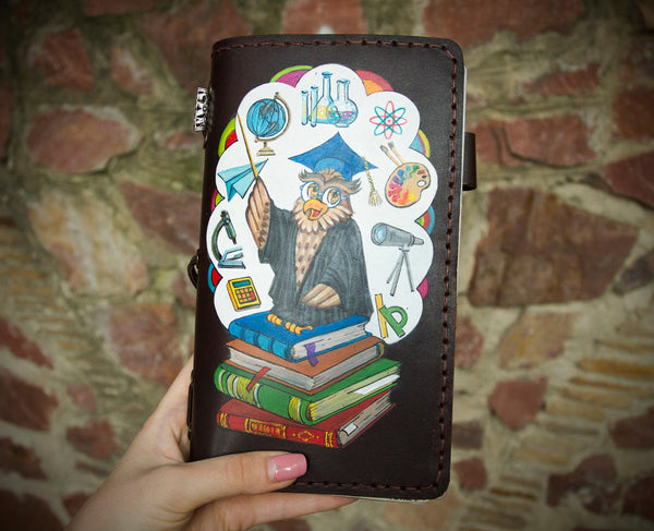 Teachers Hand Painted Journal Travelers Gift Back to School Memento
