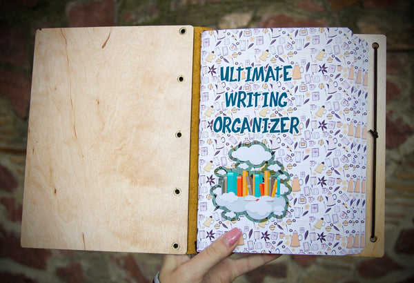 Writing Tracker Journal Wooden Notebook Bullet Journal from Sanati Keep Writing Daily with PVC Zipper Pouch and Refills