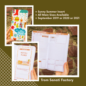 September Refill Insert Travelers Notebook Planner Regular Size A5 B6 Standard TN Passport Pocket September 2019 2020 2021 Day on 2 Pages
