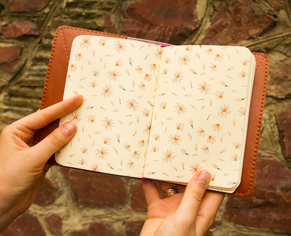 Giraffe Travelers Notebook A6 Size Fauxdori Faux Leather Journal with Three Inserts Refills and Pockets