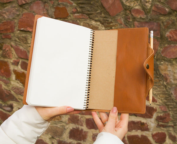 Light Brown Leather Journal w/ Pen Loop