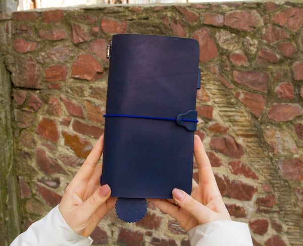 Blue Leather Travelers Notebook