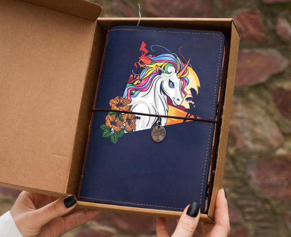 Unicorn Hand Painted Journal