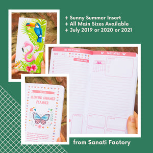 July Refill Insert Travelers Notebook Planner Regular Size A5 B6 Standard TN Passport Pocket July 2019 2020 2021 Your Size Day on 2 Pages