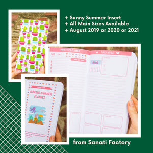 August Refill Insert Travelers Notebook Planner Regular Size A5 B6 Standard TN Passport Pocket August 2019 2020 2021 Day on 2 Pages