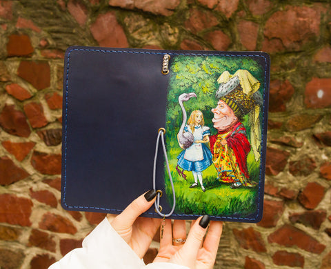 Custom Alice in Wonderland Hand Painted Journal
