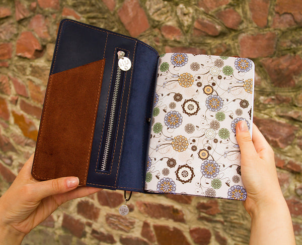 Customized Travelers Notebook With Custom Engraving Travelers Leather Notebook with Inserts Planner