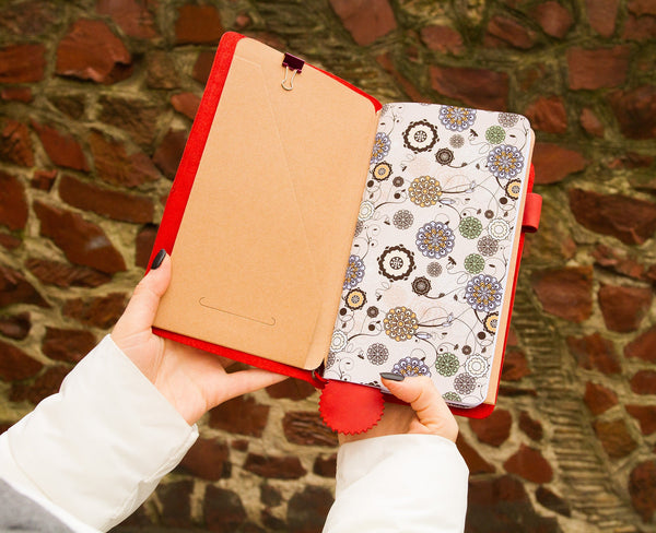 Red Leather Travelers Notebook