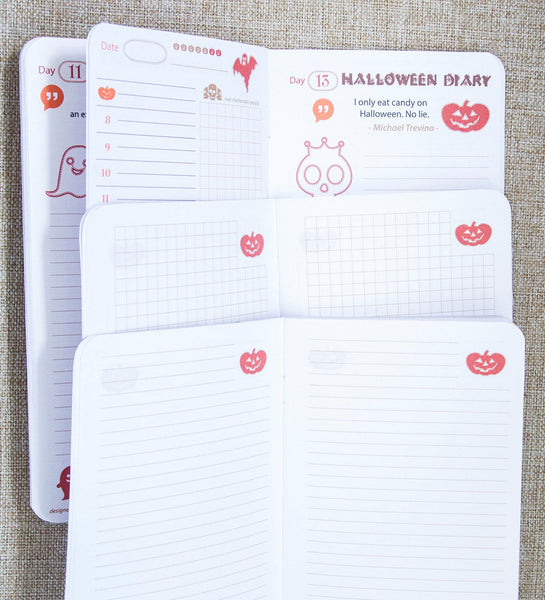 Halloween Lovely My  Travelers Notepad Three Exclusive Inserts with Gruesome Spooky Illustrations, Quotes,  Daily Notes and Planner