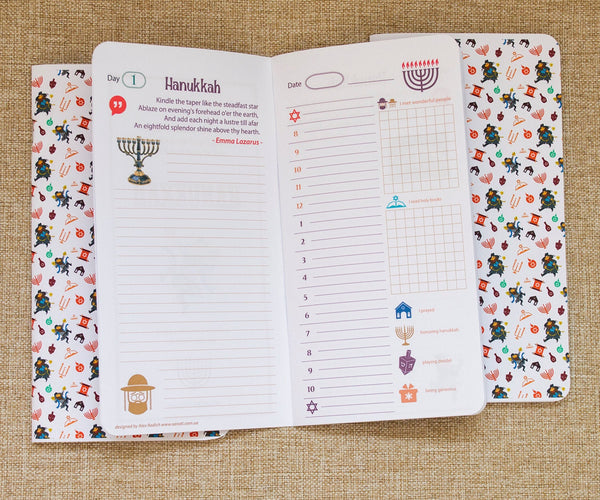 Jew Hanukkah Holiday Jewish Lights Celebration Three Original Notepads Inserts for Travelers Notebook