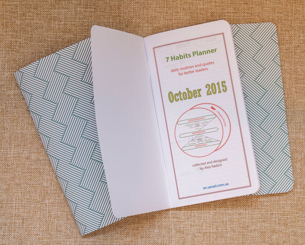 Stephen Covey Inspired Seven Habits 2018 Daily Planner Three Original Notepads Inserts for Midori Travelers Notebook