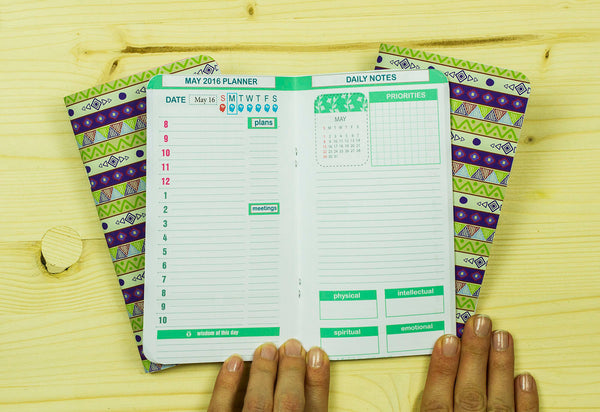 Personal Size  Inserts Set of Any Three Months Planner 2018