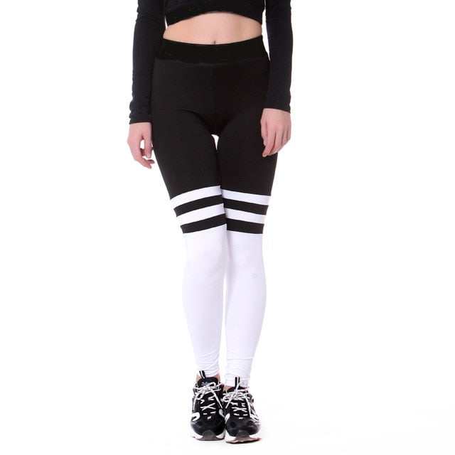 Black and White Yoga Tights