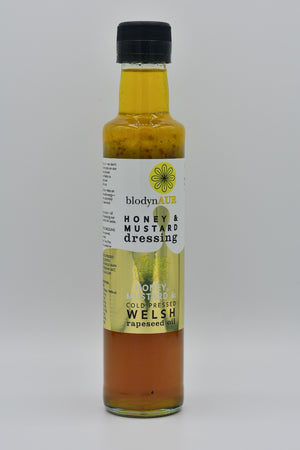 Honey, mustard and Welsh rapeseed oil dressing, Blodyn Aur