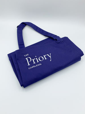 Priory branded apron (blue)