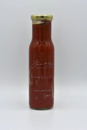 Welsh tomato sauce (saws coch), Jones & co