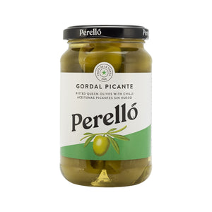 Perello Gordal Spicy Pitted Olives Jar 150g