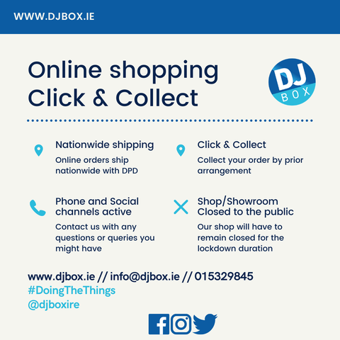 Djbox.ie Click and Collect and Nationwide shipping