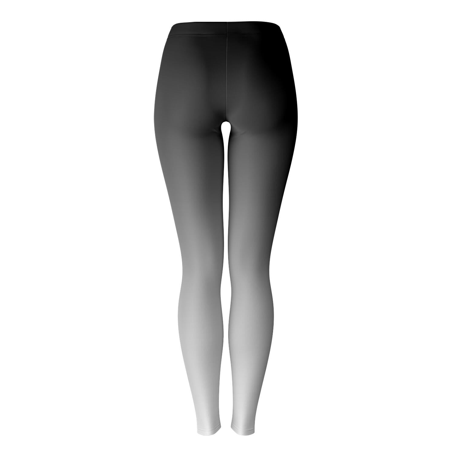 Black to White Ombre Leggings
