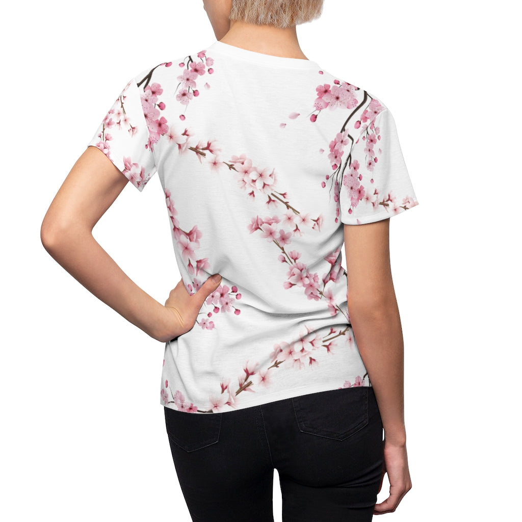 Cherry Blossom Tee in White
