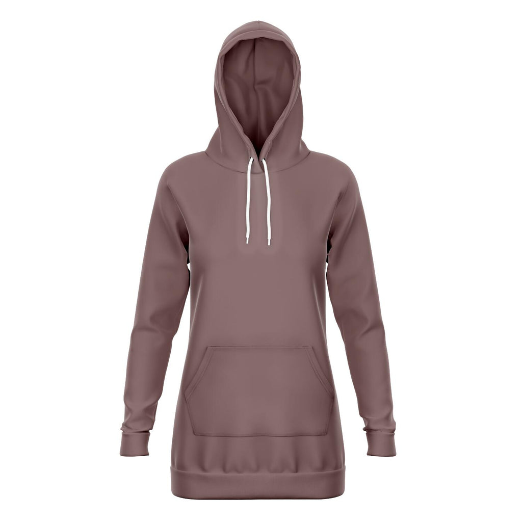 Dusty Rose Longline Athletic Fitted Hoodie
