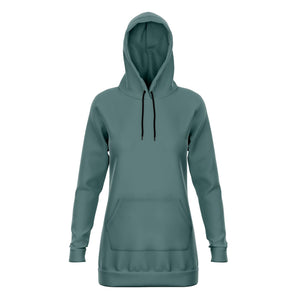 Seafoam Green Longline Athletic Hoodie