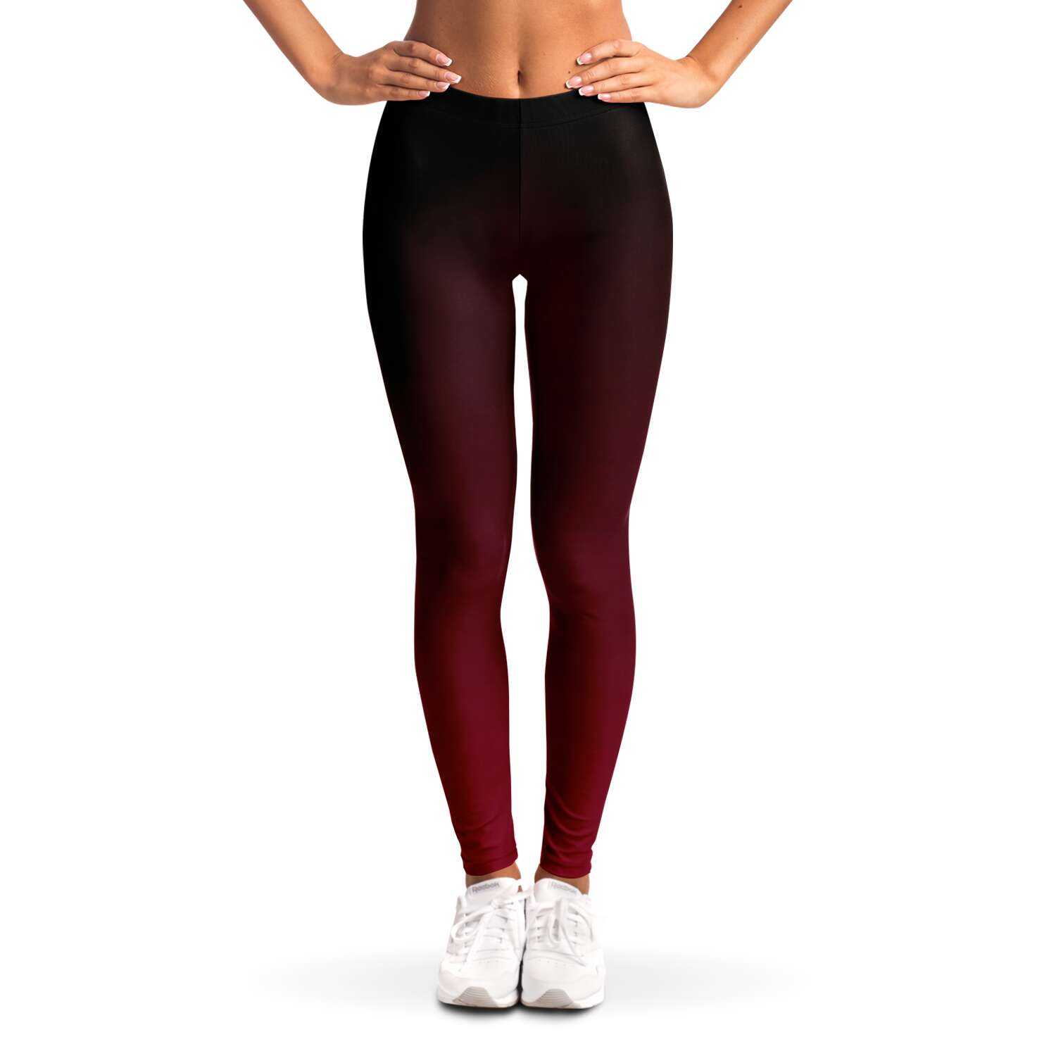 Black to Red Ombre Leggings