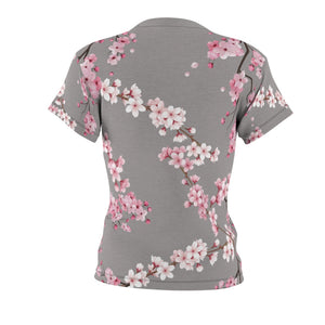 Cherry Blossom Tee in Gray