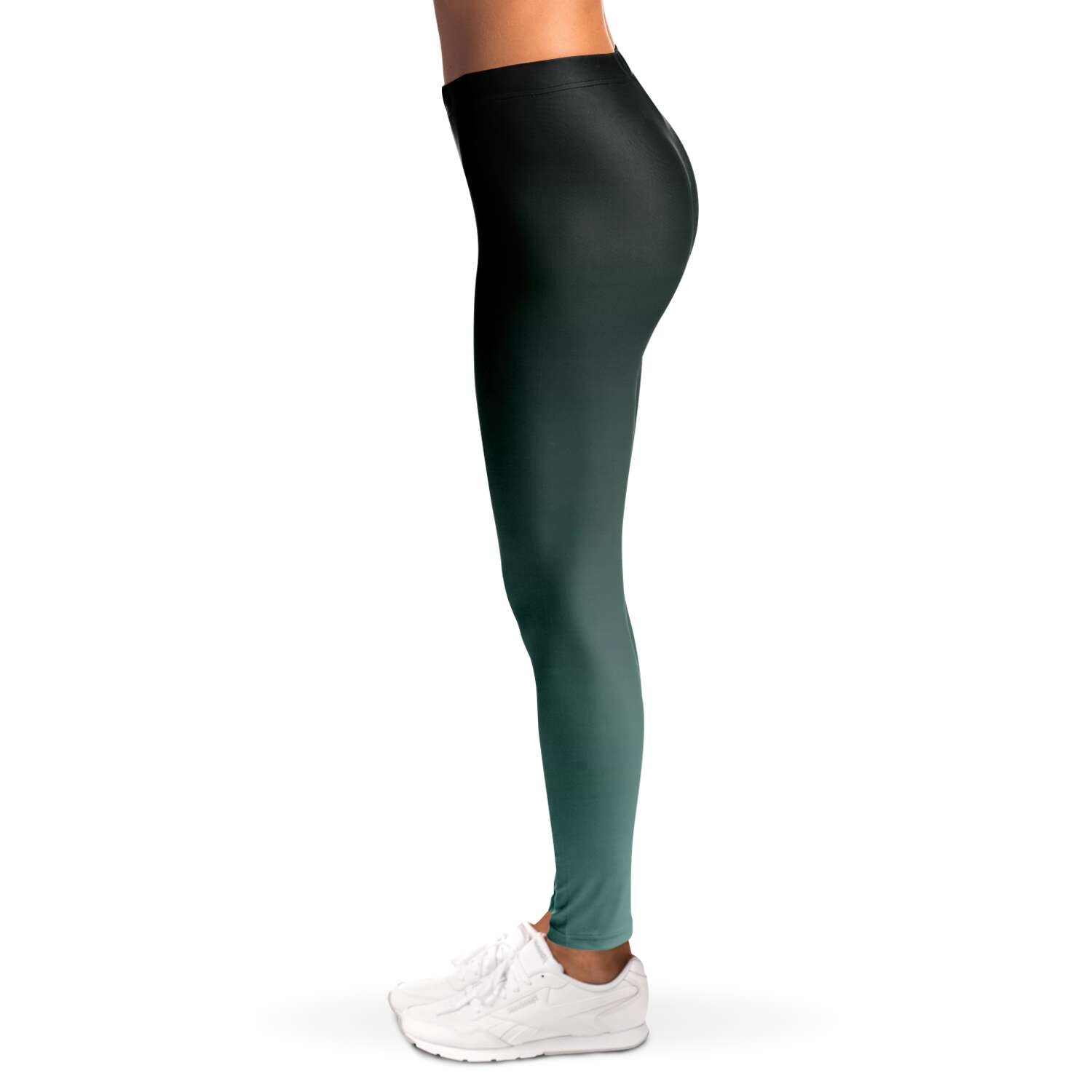 Black to Turquoise Ombre Leggings