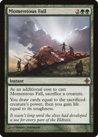 Momentous Fall [Rise of the Eldrazi] | LINEBREAKERS CA