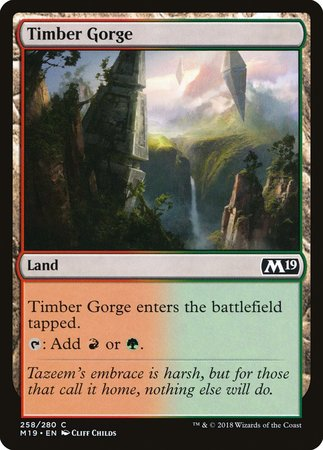 Timber Gorge [Core Set 2019] | LINEBREAKERS CA