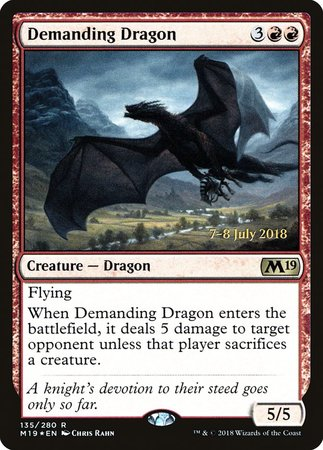 Demanding Dragon [Core Set 2019 Promos] | LINEBREAKERS CA