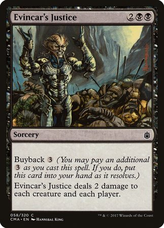 Evincar's Justice [Commander Anthology] | LINEBREAKERS CA