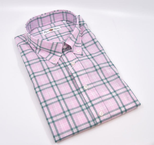 Alan Paine Men's Dress Shirts Fleetwood Classic Fit Button Down Shirt - Pink
