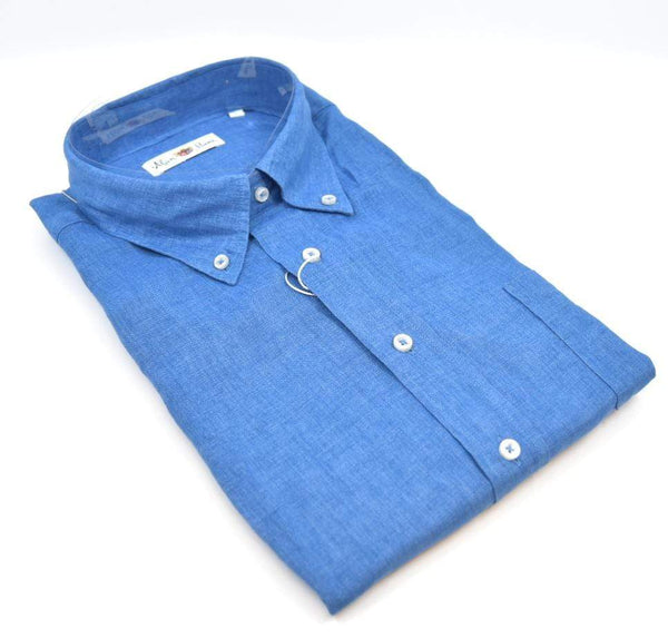 Alan Paine Men's Shirts Beaford Button Down Shirt - Blue