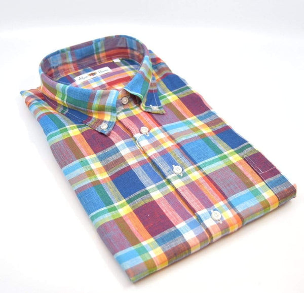 Alan Paine Men's Shirts Beaford Button Down Shirt - Multi Plaid