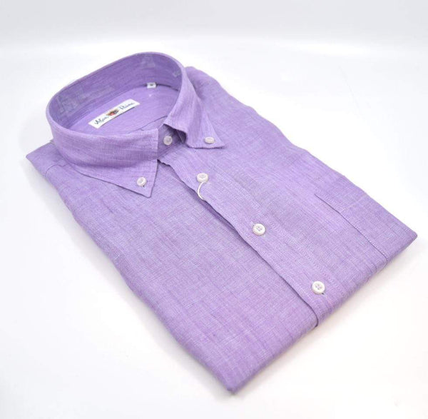 Alan Paine Men's Shirts Beaford Button Down Shirt - Violet
