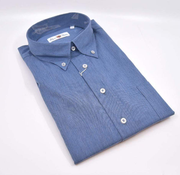 Alan Paine Men's Shirts Fleetwood Button Down Solid Blue Shirt
