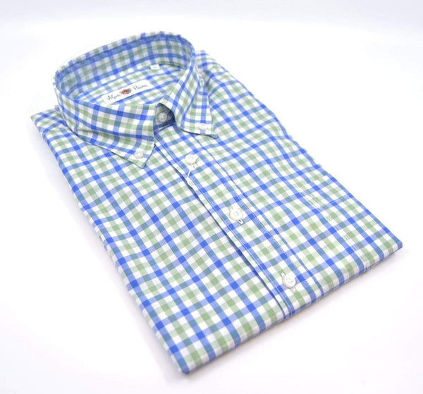 Alan Paine Men's Shirts Fleetwood Classic Fit Button Down Shirt - Green/Blue