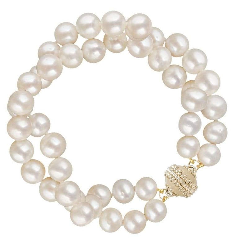 Clara Williams Bracelets Potato Pearl Double Strand Bracelet