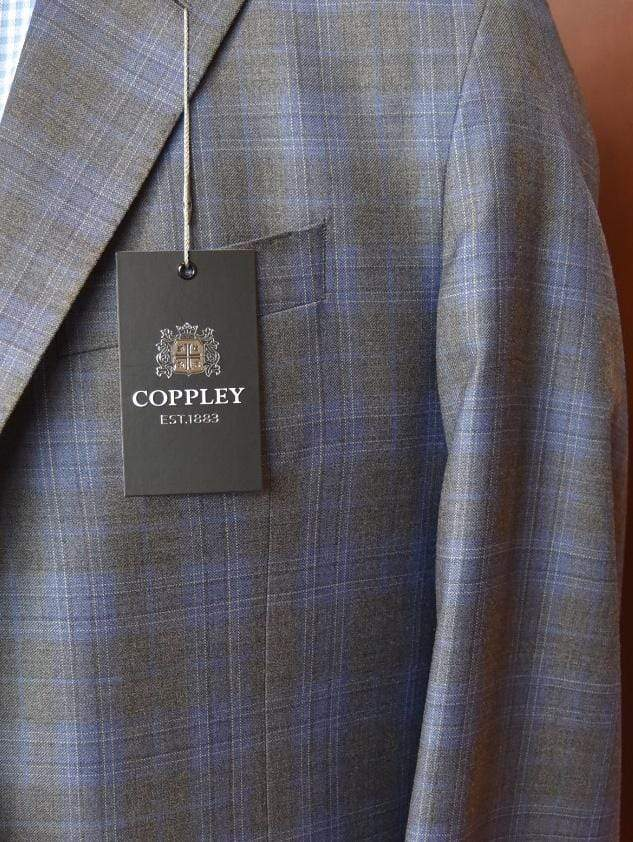 Coppley Men's Sport Coats Coppley Sport Coat, Grey/Blue Plaid