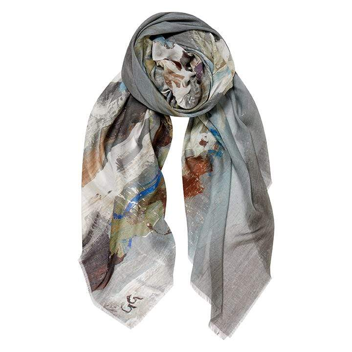 English Weather Women's Accessories English Weather Effie Luxurious Sea Scape Scarf