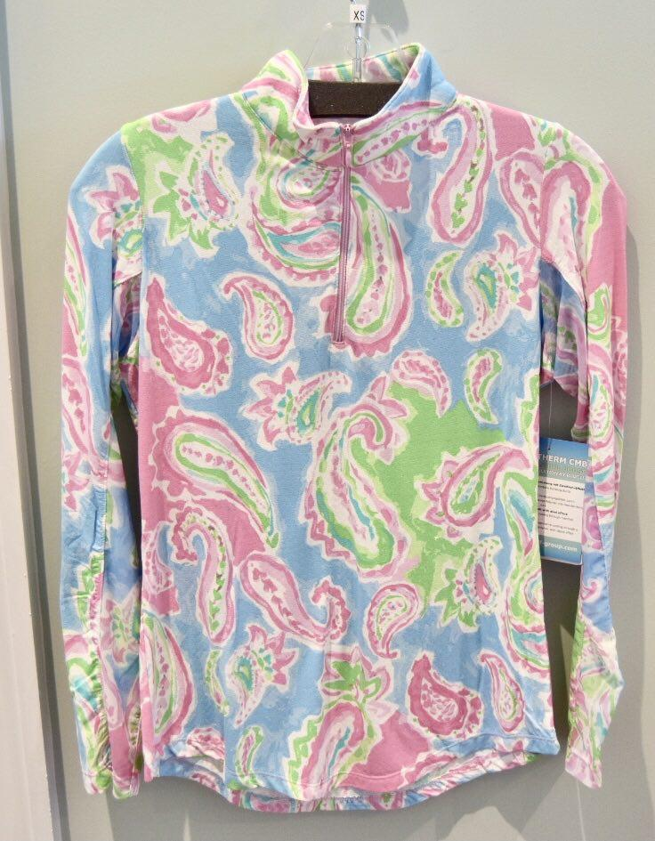 Gottex Women's Shirts & Tops Pastel Multi Color / XS Gottex Summer Zip Mock Sun Shirts