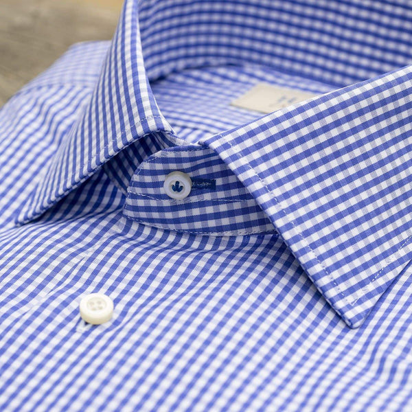 Hagen Carmel Men's Dress Shirts Hagen Gingham Broadcloth