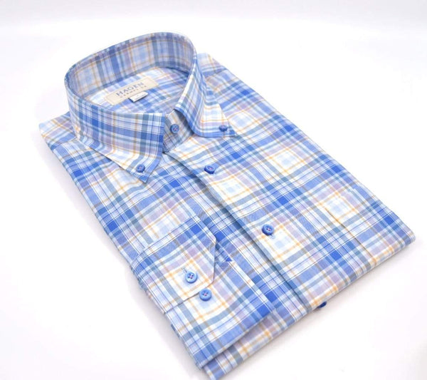 Hagen Carmel Men's Shirts Hagen Multi Plaid Button Down Shirt