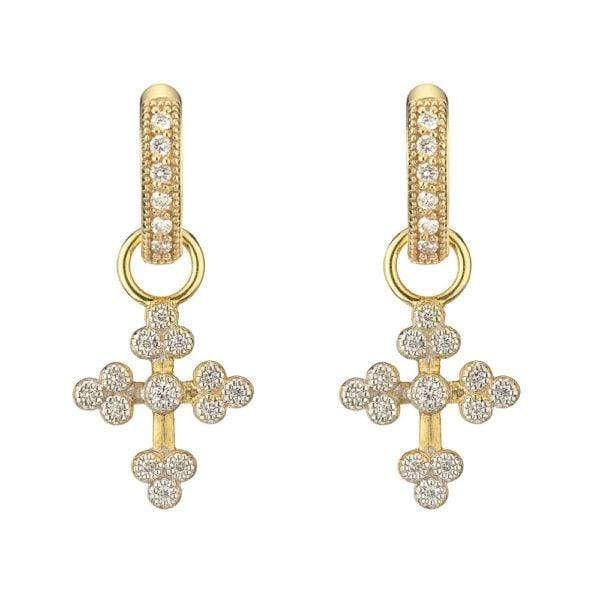 Jude Frances Earring Charms Tiny Provence Cross Charms