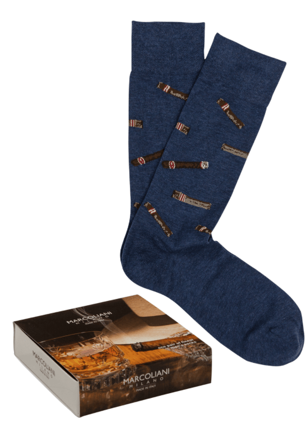 Marcoliani Men's Socks Cigar Design / Large Marcoliani Whisky