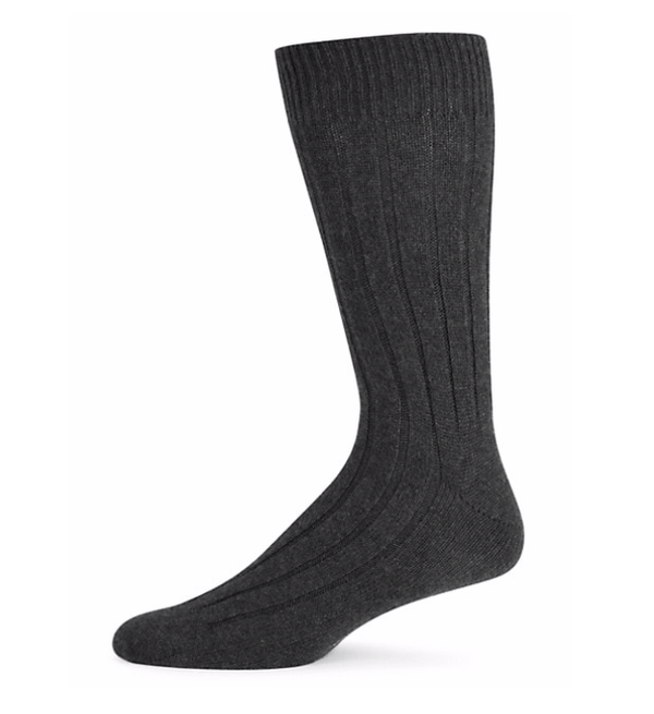 Marcoliani Men's Socks Marcoliani Ribbed Cashmere Dress Socks