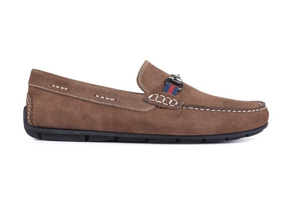 Martin Dingman Men's Shoes Bermuda Horse Bit Loafer - Bark