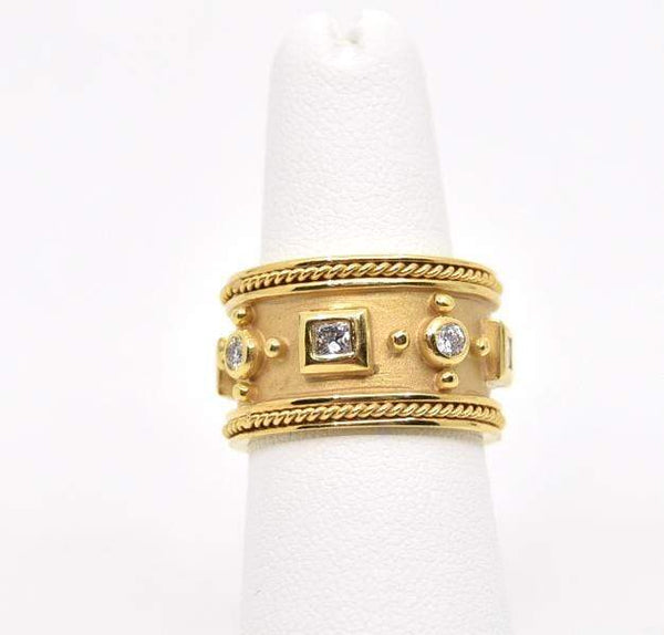 Mazza Rings Etruscan Style 14k .96ct dia. ring